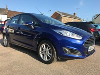 2017 FORD FIESTA 1.25 ZETEC 5d IN DEEP IMPACT BLUE WITH REMAINING FORD WARRANTY £8500.00