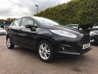 2017 FORD FIESTA 1.25 ZETEC 5d IN PANTHER BLACK WITH REMAINING FORD WARRANTY £SOLD
