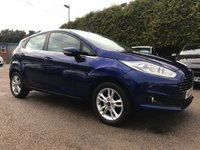 2017 FORD FIESTA 1.25 ZETEC 5d IN DEEP IMPACT BLUE WITH REMAINING FORD WARRANTY £8750.00