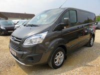 2015 FORD TRANSIT CUSTOM 2.2 TDCi 270 LIMITED SWB LOW ROOF 155 BHP 35754 MILES £14950.00