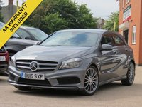USED 2015 15 MERCEDES-BENZ A CLASS 2.1 A200 CDI AMG SPORT 5d 136 BHP SATELLITE NAVIGATION + AA WARRANTY INCLUDED