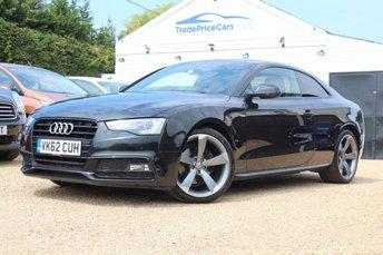 2012 AUDI A5 2.0 TDI S LINE BLACK EDITION 2d 177 BHP £14750.00