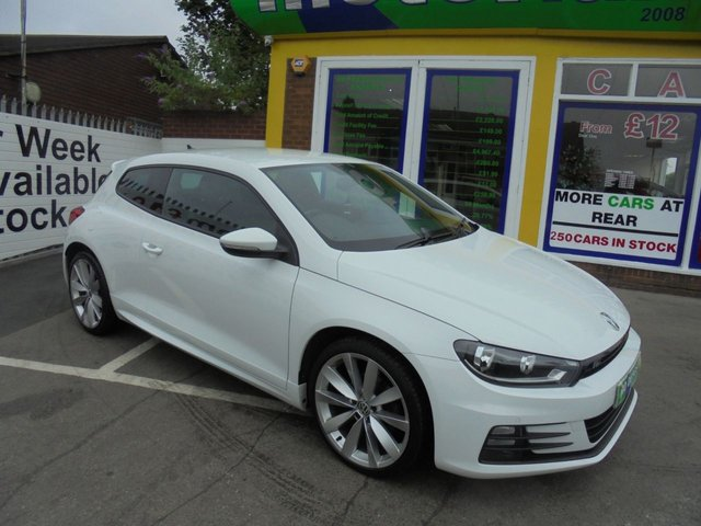 USED 2015 65 VOLKSWAGEN SCIROCCO 2.0 R LINE TDI BLUEMOTION TECHNOLOGY 2d 150 BHP CALL....01543 379066. **JUST ARRIVED...SAT NAV... FULL BLACK LEATHER