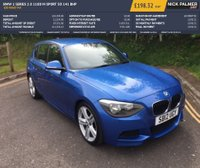 USED 2012 12 BMW 1 SERIES 2.0 118D M SPORT 5d 141 BHP £30 ROAD TAX