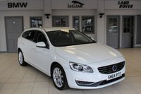 USED 2015 64 VOLVO V60 2.0 D4 SE LUX 5d 178 BHP FULL BLACK LEATHER SEATS + FULL VOLVO SERVICE HISTORY + XENON HEADLIGHTS + BLUETOOTH + HEATED FRONT SEATS + FREE TAX + CRUISE CONTROL + REAR PARKING SENSORS + AUTOMATIC LIGHTS