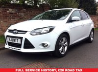 USED 2011 11 FORD FOCUS 1.6 ZETEC TDCI 5d 113 BHP £20 ROAD TAX, FULL SERVICE HISTORY 6 SERVICES,  MOT APR 19, EXCELLENT CONDITION, ALLOYS, AIR CON, BLUETOOTH, FOGS, RADIO CD, E/WINDOWS, R/LOCKING, FREE WARRANTY, FINANCE AVAILABLE, HPI CLEAR, PART EXCHANGE WELCOME,