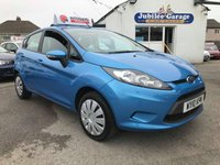 USED 2010 10 FORD FIESTA 1.2 EDGE 5d 81 BHP Cd player, Central Locking, 12 Months MOT & Service!
