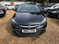 USED 2013 63 VAUXHALL ASTRA 1.6 EXCLUSIV 5d 113 BHP
