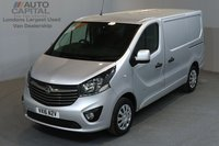 USED 2016 16 VAUXHALL VIVARO 1.6 2900 SPORTIVE 114 BHP SWB LOW ROOF A/C  ONE OWNER FROM NEW, SERVICE HISTORY