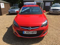 USED 2013 63 VAUXHALL ASTRA 1.4 SRI 5d 98 BHP FULL SERVICE HISTORY - FINANCE AVAILABLE