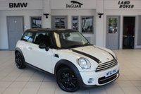 USED 2013 62 MINI HATCH COOPER 1.6 COOPER 3d 122 BHP HALF BLACK LEATHER SEATS + BLUETOOTH + CHILI PACK + DAB RADIO + AUTOMATIC AIR CONDITIONING + 15 INCH ALLOYS