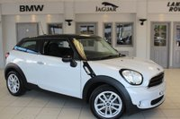 USED 2015 65 MINI PACEMAN 1.6 COOPER 3d 122 BHP CARBON BLACK CLOTH SEATS + FULL MINI SERVICE HISTORY + BLUETOOTH + SERVICE PACK 30/12/2020 OR 50K + PEPPER PACK 2 + REAR PARKING SENSORS + 15 INCH ALLOYS + RAIN SENSORS