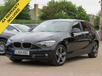 USED 2014 14 BMW 1 SERIES 1.6 116I SPORT 5d AUTO 135 BHP AUTO, SATELLITE NAVIGATION, 3 MONTHS AA WARRANTY INCLUDED