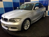 "USED 2010 10 BMW 1 SERIES 2.0 118D M SPORT 2d 141 BHP A clean example of this highly sought after diesel coupe finished in silver contrasted with 17"" m sport alloys,this car looks and drives superbly comming with dual zone climate control,rear parking sensors,part leather interior,cd radio ,unfortunately this car suffered minor accident damge back in 2012 but has been in daily use since any inspection is welcomed. The car is very competatively priced along with a combined mpg of 62.8 and road fund of only £30 deffinitely one to concidered and viewe"