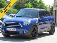 USED 2014 14 MINI PACEMAN 1.6 COOPER D 3d 111 BHP MINI TLC SERVICING PACKAGE UNTIL JUNE 2019