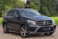 USED 2016 16 MERCEDES-BENZ GLE-CLASS 3.0 GLE 350 D 4MATIC AMG LINE PREMIUM 5d AUTO 255 BHP STUNNING MOUNTAIN GREY METALLIC PAINT, BLACK LEATHER INTERIOR, HEATED SEATS, POLISHED AMG ALLOYS, MEMORY PACK, SAT NAV,  PANORAMIC ROOF, PARKING SENSORS, SELF PARK, 360 DEGREE CAMERA, 1 OWNER, LOW MILEAGE, MERCEDES S/HISTORY