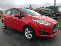 2015 FORD FIESTA 1.2 ZETEC 5 DOOR 1 OWNER FSH NEWER SHAPE VERY CLEAN CAR  £6995.00