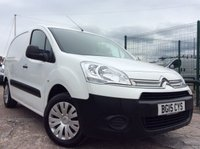 USED 2015 15 CITROEN BERLINGO 1.6 625 ENTERPRISE L1 HDI 74 BHP 1 OWNER FSH NEW MOT FREE 6 MONTH AA WARRANTY WITH RECOVERY AND ASSIST NEW MOT SPARE KEY AIR CONDITIONING ELECTRIC WINDOWS REAR PARKING SENSORS 3 SEATS