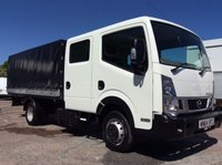 2014 NISSAN NT400 CABSTAR LWB  DROPSIDE 2.5 DCI 35.14 136 BHP DOUBLE CAB ENCLOSED 1 OWNER FSH NEW MOT AIR CON £18000.00