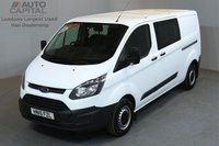 USED 2015 15 FORD TRANSIT CUSTOM 2.2 290 DCB 124 BHP L2 H1 LWB LOW ROOF 6 SEATER COMBI VAN ONE OWNER FROM NEW, SERVICE HISTORY