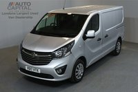 USED 2017 17 VAUXHALL VIVARO 1.6 2900 SPORTIVE 120 BHP SWB LOW ROOF A/C E6  ONE OWNER FROM NEW, MANUFACTURE WARRANTY UNTIL 18/07/2020