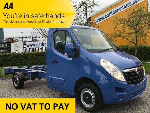 2012 12 VAUXHALL MOVANO F3500 2.3CDTI L2H1 MWB CHASSIS CAB- FWD ..MASSIVE SAVING NOW PRICE SLASHED !!