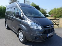 2016 FORD TRANSIT CUSTOM 270 LIMITED L1 H2 Swb Hightop 2.2Tdci 155Ps £16995.00
