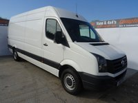 USED 2015 15 VOLKSWAGEN CRAFTER 2.0 CR 35 TDI LONG WHEEL BASE 161 BHP  GREAT VALUE FOR MONEY AND I FANTASTIC CONDITION