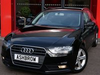 USED 2015 64 AUDI A4 AVANT 2.0 TDI ULTRA SE TECHNIK 5d 163 S/S UPGRADE AUTO DIMMING ELECTRICALLY FOLDING HEATED DOOR MIRRORS, HDD SAT NAV WITH JUKEBOX & DVD PLAYBACK (MMI NAVIGATION PLUS), FULL LEATHER INTERIOR, DAB RADIO, WIRELESS LAN CONNECTION (WLAN), BLUETOOTH MOBILE PHONE PREP WITH MUSIC STREAMING, AUDI MUSIC INTERFACE FOR IPOD / USB DEVICES (AMI), FRONT & REAR PARKING SENSORS WITH DISPLAY, ELECTRIC TAILGATE, LEATHER MULTI FUNCTION STEERING WHEEL, CRUISE CONTROL, LIGHT & RAIN SENSORS, 1 OWNER FROM NEW, GOOD SERVICE HISTORY, £30 ROAD TAX