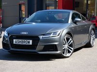 USED 2015 64 AUDI TT 2.0 TFSI QUATTRO S LINE 2d AUTO 227 S/S QUATTRO 4 WHEEL DRIVE, LED XENON HEADLIGHTS, 19 INCH 10 SPOKE ALLOYS, BLACK LEATHER ALCANTARA UPHOLSTERY, SPORT SEATS WITH LUMBAR SUPPORT, VIRTUAL COCKPIT/DASH BOARD, LEATHER FLAT BOTTOM MULTIFUNCTION TIPTRONIC STEERING WHEEL (PADDLE SHIFT), AUDI DRIVE SELECT, CD + 2x SD CARD READERS, AUX & 2x USB PORTS, BLUETOOTH PHONE & MUSIC STREAMING, DAB RADIO, WIFI, AUTO LIGHTS & WIPERS, 1 OWNER FROM NEW, FULL SERVICE HISTORY
