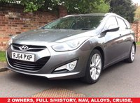 USED 2014 64 HYUNDAI I40 1.7 CRDI STYLE 5d AUTO 138 BHP 2 OWNERS, FULL SERVICE HISTORY, 1YR MOT, EXCELLENT CONDITION, NAV,ALLOYS, CLIMATE, CRUISE, BLUETOOTH, FOGS, RADIO CD, E/WINDOWS, R/LOCKING, FREE WARRANTY, FINANCE AVAILABLE, HPI CLEAR, PART EXCHANGE WELCOME,