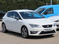 USED 2015 15 SEAT LEON 2.0 TDI FR TECHNOLOGY 5d 150 BHP SATELLITE NAVIGATION, AA DEALER PROMISE