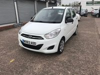 USED 2013 63 HYUNDAI I10 1.2 CLASSIC 5d 85 BHP 1 OWNER-£20 PER YEAR TAX-SERVICE HISTORY-USB AND AUX SOCKET-AIR CON
