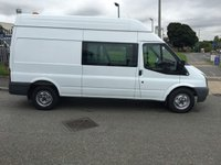 2011 FORD TRANSIT 2.4 350 H/R DCB 1d 115 BHP FACTORY DOUBLE CAB VAN LOW LOW MILES £7995.00