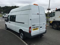 USED 2011 11 FORD TRANSIT 2.4 350 H/R DCB 1d 115 BHP FACTORY DOUBLE CAB VAN LOW LOW MILES