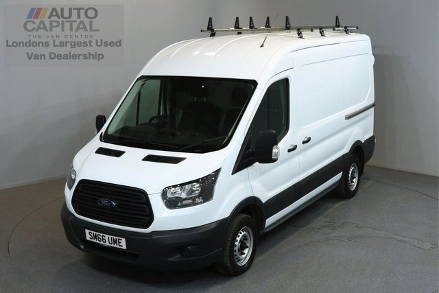 2017 66 FORD TRANSIT 2.0 290 104 BHP L2 H2 MWB MEDIUM ROOF E6 ONE OWNER FROM NEW, MANUFACTURE WARRANTY UNTIL 15/02/2020