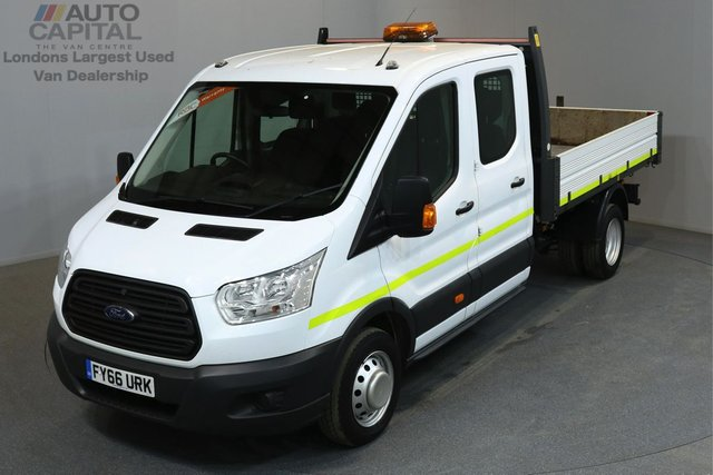 2016 66 FORD TRANSIT 2.2 350 124 BHP L3 LWB TIPPER  ONE OWNER FROM NEW, MANUFACTURE WARRANTY UNTIL 29/09/2019