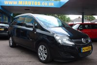 USED 2012 62 VAUXHALL ZAFIRA 1.8 DESIGN 5dr 138 BHP IDEAL FAMILY CAR | ZERO DEPOSIT FINANCE AVAILABLE