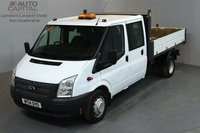 USED 2014 14 FORD TRANSIT 2.2 350 124 BHP L3 LWB TIPPER  ONE OWNER FROM NEW, 11/06/2019