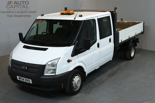2014 14 FORD TRANSIT 2.2 350 124 BHP L3 LWB TIPPER  ONE OWNER FROM NEW