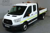 USED 2016 66 FORD TRANSIT 2.2 350 DCB 124 BHP L3 LWB 7 SEATER TIPPER ONE OWNER FROM NEW, MANUFACTURE WARRANTY UNTIL 29/09/2019