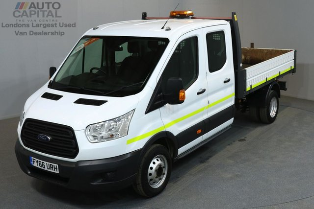 2016 66 FORD TRANSIT 2.2 350 DCB 124 BHP L3 LWB 7 SEATER TIPPER ONE OWNER FROM NEW, MANUFACTURE WARRANTY UNTIL 29/09/2019