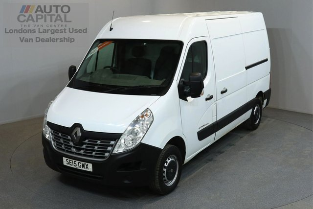 2015 15 RENAULT MASTER 2.3 MM35 BUSINESS 125 BHP L2 MWB 3 OWNER FROM NEW, FULL SERVICE HISTORY