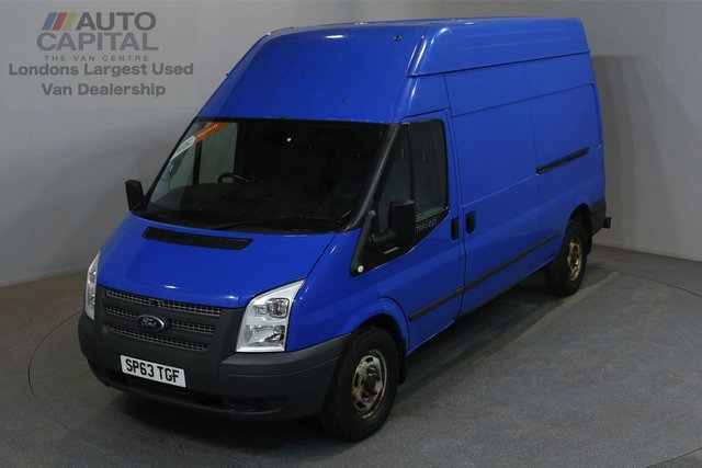 2013 63 FORD TRANSIT 2.2 350 99 BHP L3 H3 LWB HIGH ROOF ONE OWNER FROM NEW, FULL SERVICE HISTORY
