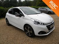 USED 2016 66 PEUGEOT 208 1.2 PURETECH S/S GT LINE 3d 110 BHP Half Leather Seats. Low Miles, Bluetooth, DAB Radio