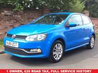 USED 2015 65 VOLKSWAGEN POLO 1.0 SE 3d 60 BHP FULL SERVICE HISTORY, MOT APR 19, FULLY PREPARED, EXCELLENT CONDITION, ALLOYS, AIR CON, CRUISE, FOGS, RADIO CD, E/WINDOWS, R/LOCKING, FREE WARRANTY, FINANCE AVAILABLE, HPI CLEAR, PART EXCHANGE WELCOME,