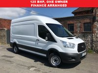 USED 2015 15 FORD TRANSIT 2.2 350 H/R P/V 1d 125 BHP PRICE CUT, 3 Seat, One Owner, Finance Arranged.
