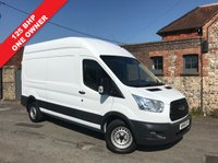 USED 2016 16 FORD TRANSIT 2.2 350 H/R P/V 1d 125 BHP 125 BHP, Long Wheel Base High Roof, One Owner, Finance Arranged.