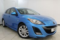 USED 2011 61 MAZDA 3 2.2 D SPORT 5DR 185 BHP MAZDA SERVICE HISTORY + SAT NAVIGATION + HEATED SEATS + BLUETOOTH + CRUISE CONTROL + PARKING SENSOR + MULTI FUNCTION WHEEL + AUXILAIRY PORT + CLIMATE CONTROL + 17 INCH ALLOY WHEELS
