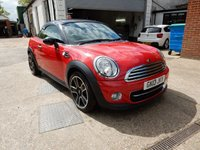 USED 2013 13 MINI COUPE 1.6 COOPER 2d 120 BHP TWO KEYS,CLIMATE,CRUISE,PARKING AID